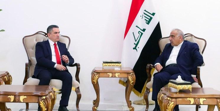 عدنان الزرفی به ملاقات نخست وزیر مستعفی و رئیس مجلس عراق رفت