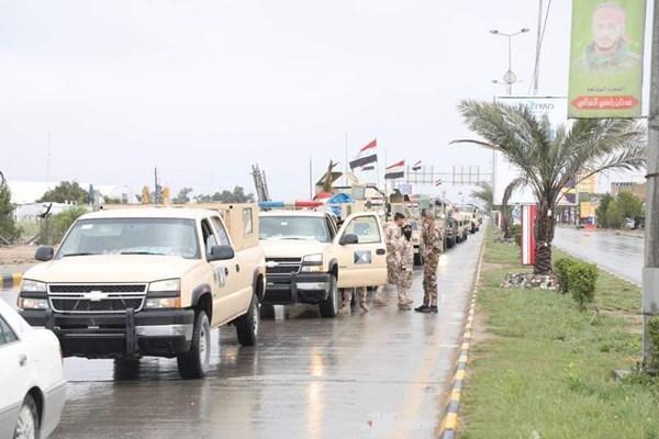 ارتش عراق برای اجرای مقررات منع آمدوشد وارد نجف شد